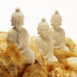 Royalty-Free Stock Photo: Three white budha statues