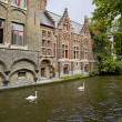 Beautiful canal view in Brugge - Stock fotografie