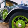 Stock Photo: Green classic car