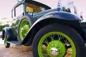 Green classic car — Stock Photo