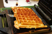 Baking Brussels Waffels - Serie - 2 of 5 — Stock Photo