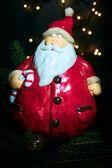晚上散步的圣诞老人 — 图库照片