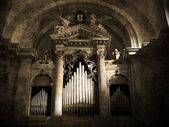 Old organ. Vintage picture — Stock Photo
