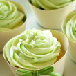 Green Icing Cupcakes — Stock Photo