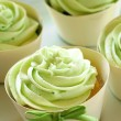 Stock Photo: Green Icing Cupcakes
