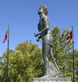 Statue of Terry Fox Thunder Bay — Stock Photo