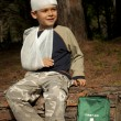 Stock Photo: First Aid in the Forest