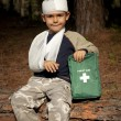 First Aid in the Forest — Stock Photo #7648231