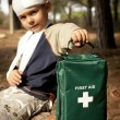 First Aid in the Forest — Stock Photo #7648329