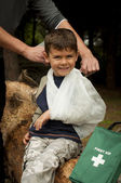 First Aid in the Forest — Stock Photo