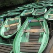A lot of green boat — Stock Photo #6960355
