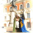 Stock Photo: Love story in the medieval style