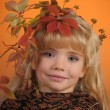 Autumn princess - Stock Photo