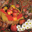 Basket with apples — Foto Stock #7444598