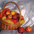 Basket with apples - Stock Photo