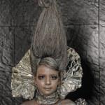 Girl in silver — Stock Photo