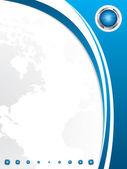Business brochure template — Stock Vector