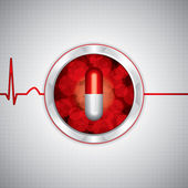 反薬剤の医学的背景 — ストックベクタ
