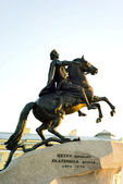 Bronze horseman in saint peterburg russia — Stock Photo