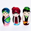 Stock Photo: 3 pax three persons cute traditional costume dolls