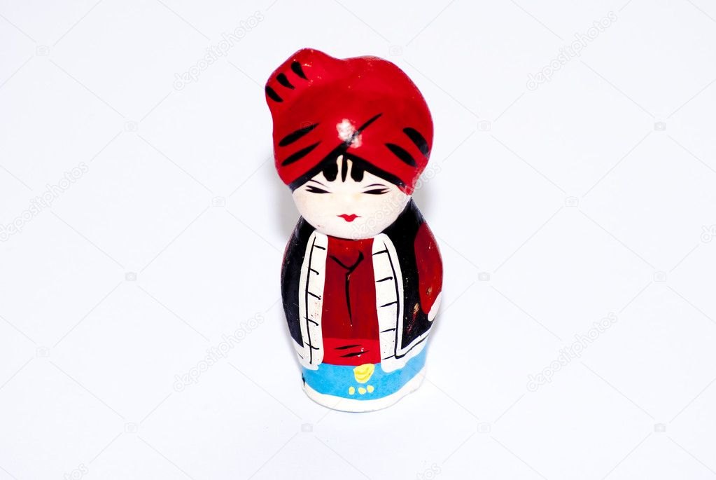 1 pax one person cute traditional costume doll — Stock Photo #6908122