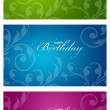 Colorful Birthday Cards — Stock Photo