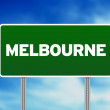 Green Road Sign - Melbourne, Australia — Stock Photo #6807435