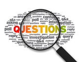 Magnifying Glass - Questions — Stock Photo