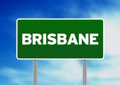 Green Road Sign - Brisbane, Australia — Stock Photo