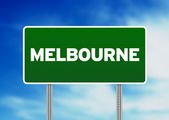 Green Road Sign - Melbourne, Australia — Stock Photo