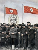Tyska arbetare — Stockfoto