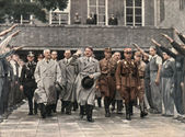 Adolf Hitler visiting the Berlin Stadium — Stock Photo