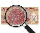 Magnifying Glass - 100 Pesos - Front Side — Stock Photo