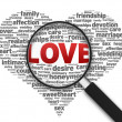 Magnifying Glass - Love - Stock Photo
