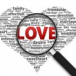 Magnifying Glass - Love — Stock Photo #6952876
