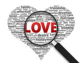 Magnifying Glass - Love — Stock Photo