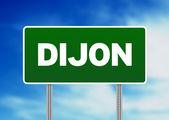 Green Road Sign - Dijon, France — Stock Photo