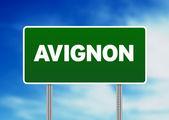 Green Road Sign - Avignon, France — Stock Photo