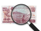 Magnifying Glass - 50 Pesos - Back Side — Stock Photo