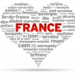 I Love France - Stock Vector