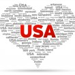 I Love USA - Stock Vector