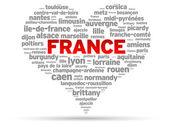 Eu amo a França — Vetor de Stock