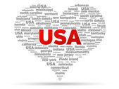 I Love USA — Stock Vector