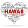 Stock Vector: I Love Hawaii