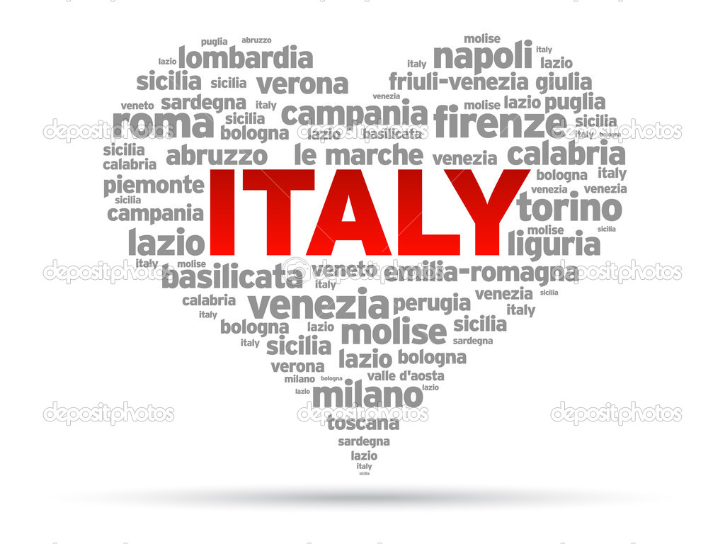 I Love Italy Illustration on white background.  Stock Vector #7182919