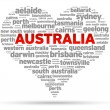 I Love Australia - Stock Vector