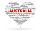 I Love Australia — Stock Vector