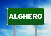 дорожный знак - альгеро, италия — Стоковое фото