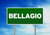 Road Sign - Bellagio, Italy — Stock Photo