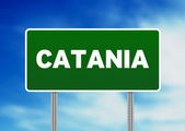 Road Sign - Catania, Italy — Stock Photo